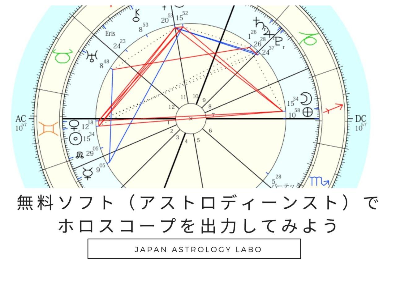 占星術の無料ソフトと有料ソフトの違いとおすすめポイントや 無料ソフトのアストロディーンストの操作方法をお伝えします