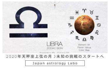 2020年天秤座上弦の月