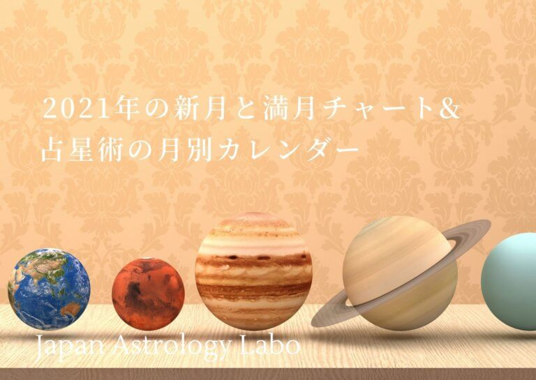 新月と満月のチャートと占星術月別カレンダー